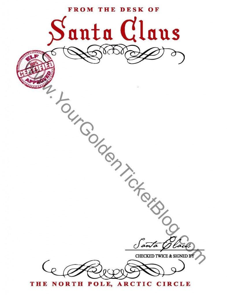 Santa Claus Stationary {Free Printable}