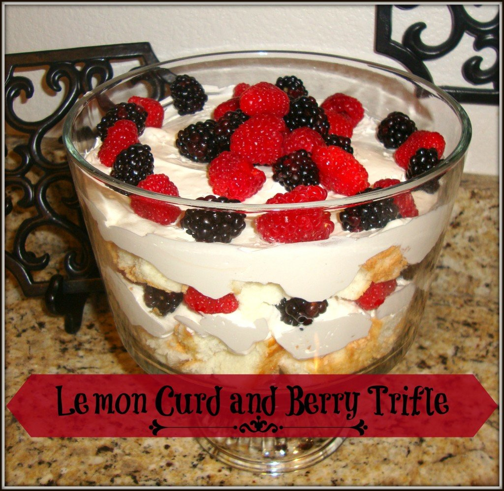 lemon curd and berry trifle