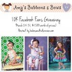 Amy's Buttons & Bows 10K Facebook Fans Giveaway {ends 3/31}