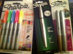shoplet, pens, sharpies, sharpies and pens