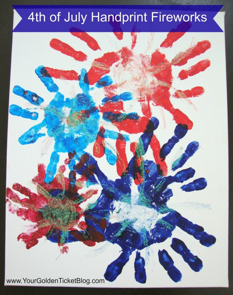 4th of july handprint fireworks
