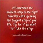Take the Step! #sharegoodness #spreadpositivity