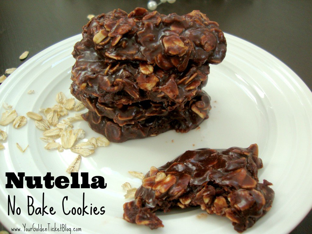 Nutella No Bake Cookies 1