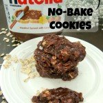 Nutella No Bake Cookies #nutella #nobakecookies